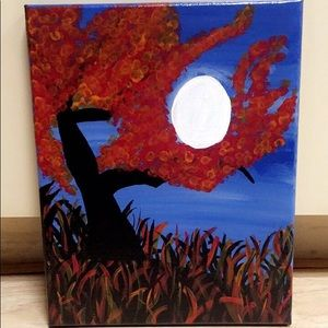 New Fall Moon Canvas Art